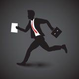 Business man running Royalty Free Stock Photos