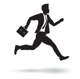 Business man running Royalty Free Stock Photography