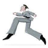 Business Man Running Illustration Stock Photo