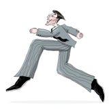 Business man running illustration Stock Photo