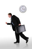 Business Man Running Late Royalty Free Stock Image