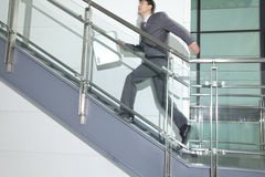 Business Man Running Up Stairs Stock Photos