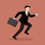 Business Man Runnung Stock Image