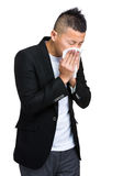 Business man runny nose Royalty Free Stock Photo
