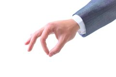 Business man's hand Royalty Free Stock Photo