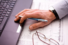 Business man's hand. With pen Royalty Free Stock Photography