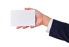 Business man's hand and a card Royalty Free Stock Photo