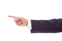 Business mans hand pointing Stock Images