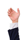 Business man's hand to hold various objects Royalty Free Stock Photos