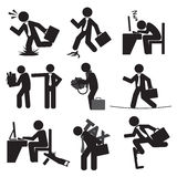 Business Man's Risk Icon Set. Royalty Free Stock Photo