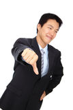 Business man's thumb down hand sign Royalty Free Stock Photo