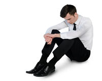 Business man sad lay down Stock Photo