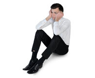 Business man sad lay down Royalty Free Stock Photo