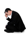 Business man sad stand down Royalty Free Stock Photo