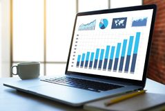 Free Business Man Sales Increase Revenue Shares And Customer Marketing Sales Dashboard Graphics Concept Stock Photography - 127083512