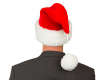 Business man with a santa hat Royalty Free Stock Photography