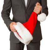 Business man with a santa hat Royalty Free Stock Photo