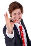 Business man saying ok Stock Photos