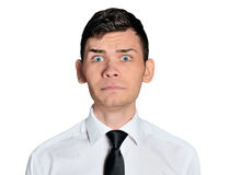 Business man scared face Royalty Free Stock Photo