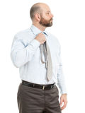 Business man selects tie Royalty Free Stock Image