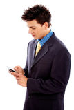 Business man sending sms Royalty Free Stock Images