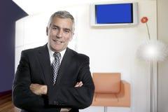 Business man senior interior office modern design stock photography