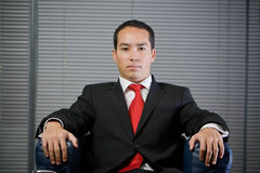 Business man serious concentrated look Royalty Free Stock Image