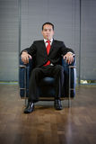 Business man serious concentrated look Royalty Free Stock Photos