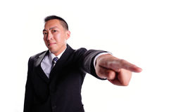 Business man serious pointing Royalty Free Stock Images