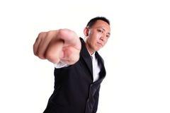 Business man serious pointing Stock Photos