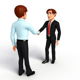 Business Man and service man with shake hand Stock Photo