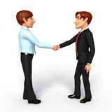 Business Man and service man with shake hand Royalty Free Stock Image