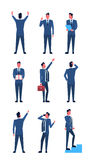 Business Man Set Full Length Positions Businessman Collection Icon Royalty Free Stock Image