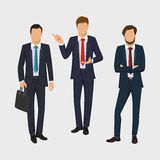 Business man set. Vector collection of full length portraits of business people. Elegant businessman on white background Royalty Free Stock Photography