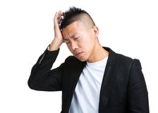 Business man with severe headache Royalty Free Stock Images