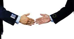 A business man shake each other hand Royalty Free Stock Image