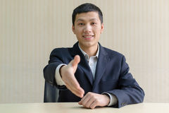 Business man shake hands Stock Images