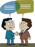 Business man. Shake hands and talking stock illustration