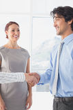 Business man shaking colleagues hand Stock Photography