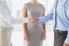 Business man shaking colleagues hand Royalty Free Stock Photo