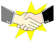 Business Man are shaking hand Stock Photo