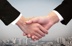 Business man shaking hand Royalty Free Stock Photography