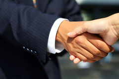 Business man shaking hands Stock Photos