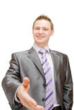 A business man shaking hands Stock Photos