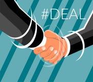 Business man shaking hands design stock illustration