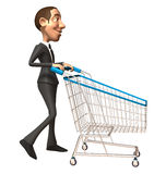 Business man shopping Stock Photo