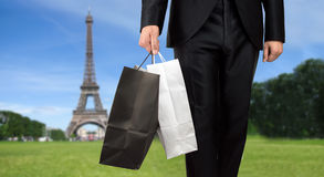 Business man shopping in paris Stock Photos