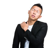 Business man shoulder pain Royalty Free Stock Image