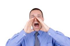 Business man Shouting Stock Photos