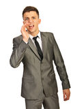 Business man shouting Royalty Free Stock Image